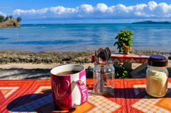 Uma xícara de café na ilha de Nacula em Fiji Imagem de Stock