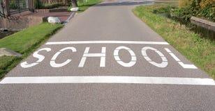 Uma zona da escola nos Países Baixos fotografia de stock royalty free