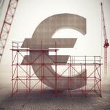 Umacnia euro gospodarkę świadczenia 3 d zdjęcie royalty free