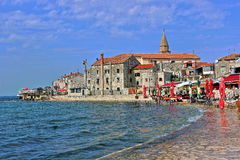 Umag Croatia. Beautiful coastal town of Umag in Istria, Croatia Royalty Free Stock Images