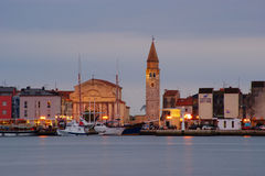 Umag By Night Royalty Free Stock Photo