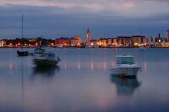 Umag By Night Royalty Free Stock Image