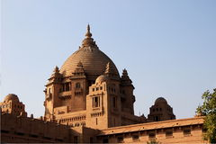 Umaid Bhavan中央圆顶  库存图片