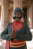 Umaid Bhavan Palace - Jodhpur - Rajasthan - India. Palace staff at the Umaid Bhavan Palace in the city of Jodhpur in the Rajasthan region of Northern India Royalty Free Stock Photo