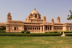 Umaid Bhawan宫殿Taj旅馆乔德普尔城拉贾斯坦印度 免版税库存照片