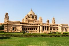 Umaid Bhawan Palace, located in Jodhpur in Rajasthan stock photography