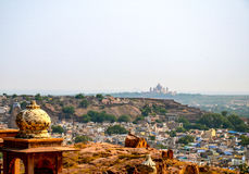 Umaid Bhawan Palace and the Old City of Jodhpur, Rajasthan, India. Overview of the Blue City of Jodhpur, India Royalty Free Stock Image
