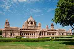 Umaid Bhawan slotthotell i Jodhpur i Rajasthan, Indien Fotografering för Bildbyråer