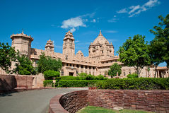 Umaid Bhawan slotthotell i Jodhpur i Rajasthan, Indien Arkivfoton
