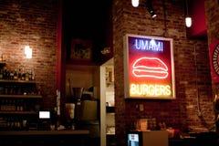 Umami hamburgare arkivbilder