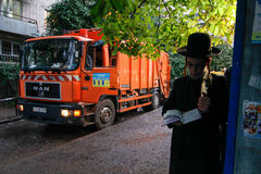 Uman, de Oekraïne - 14 September 2015: Elk jaar, duizenden Orthodoxe Hasidic Joden van Bratslav Royalty-vrije Stock Foto