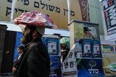 Uman, de Oekraïne - 14 September 2015: Elk jaar, duizenden Orthodoxe Hasidic Joden van Bratslav Stock Foto