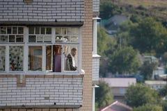 Uman, Ucrânia - 14 de setembro de 2015: Cada ano, milhares de judeus Hasidic ortodoxos de Bratslav Imagem de Stock Royalty Free
