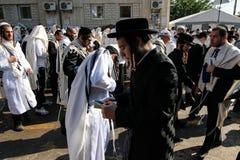 Uman, Ucrânia - 14 de setembro de 2015: Cada ano, milhares de judeus Hasidic ortodoxos de Bratslav Fotografia de Stock