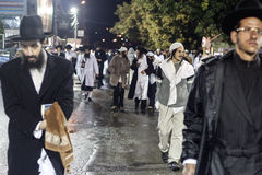 Uman, Ucrânia - 14 de setembro de 2015: Cada ano, milhares de judeus Hasidic ortodoxos de Bratslav Fotos de Stock