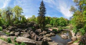 Uman, Ucrania - 30 de abril de 2016 Parque dendrological nacional fotos de archivo