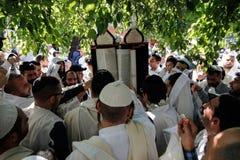 Uman,Ukraine - 14 September 2015: Every year, thousands of Orthodox Bratslav Hasidic Jews Royalty Free Stock Images
