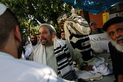 Uman, Ukraine - 14. September 2015: Jedes Jahr, Tausenden orthodoxer Hasidic Juden Bratslav Lizenzfreies Stockbild