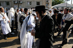 Uman, Ukraine - 14. September 2015: Jedes Jahr, Tausenden orthodoxer Hasidic Juden Bratslav Stockfotografie