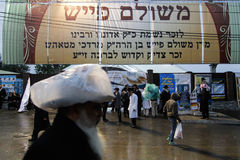 Uman, Ukraine - 14. September 2015: Jedes Jahr, Tausenden orthodoxer Hasidic Juden Bratslav Stockbilder