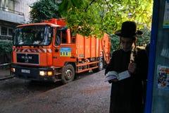 Uman, Ukraine - 14. September 2015: Jedes Jahr, Tausenden orthodoxer Hasidic Juden Bratslav Lizenzfreies Stockfoto