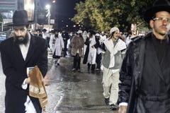 Uman, Ukraine - 14. September 2015: Jedes Jahr, Tausenden orthodoxer Hasidic Juden Bratslav Stockfotos