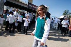 Uman, Ukraine - 14 septembre 2015 : Chaque année, milliers de juifs Hasidic orthodoxes de Bratslav Image stock