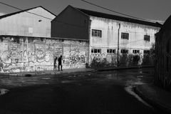 Umano, urbano, ribelle Fotografia Stock