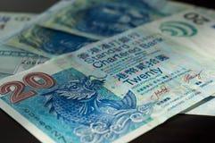Umas cédulas de Hong Kong de 20 dólares Imagem de Stock