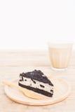 Umas partes de bolo de queijo da cookie e do creme Imagens de Stock