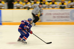 UMass-Lowell #14 in NCAA Hockey Game Stock Photography