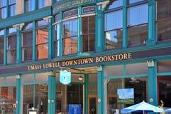 Umass Lowell bokhandel, Massachusetts, USA royaltyfri fotografi