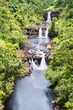 Umauma Falls Hawaii Stock Photo