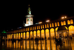 Umayad mosque in Damascus. In night royalty free stock image