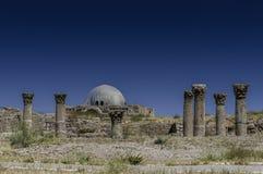 Umayyad宫殿在阿曼,约旦 库存照片