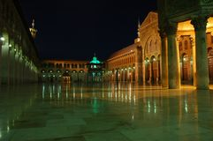 Umayyad Grand Mosque. Damascus Syria Indoors Royalty Free Stock Images
