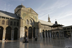 Umayyad Moschee in Damaskus Stockbilder