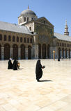 Umayyad Mosque. Main tower and courtyard of the Umayyad Mosque, Damascus, Syria Royalty Free Stock Images