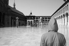 Umayyad Mosque. Is the biggest mosque in the center of damascus / Syria Royalty Free Stock Photo