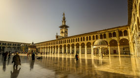 The Umayyad Mosque. Also known as the Grand Mosque of Damascus. It is located in the old city of Damascus, it is one of the largest and oldest mosques in the Royalty Free Stock Photos
