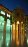 Umayyad Mosque - Damascus. Umayyad Mosque in Damascus captured at night with great light effects Royalty Free Stock Photography