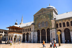Umayyad Mosque. Damascus, Syria - May 09, 2010: the Umayyad Mosque, known as the Great Mosque of Damascus, located in the old city, is one of the largest and Stock Photography