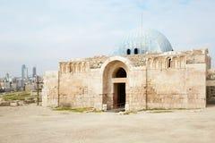 The Umayyad Palace at the old roman citadel in Amman Royalty Free Stock Image