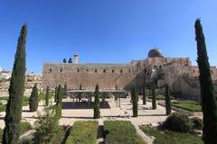 Umayyad slottborggård & al-Aqsa, Israel Arkivfoton