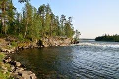 Umba River. Kola peninsula, Russia Stock Photography