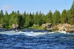 Umba river, Kola peninsula, Russia Stock Photo