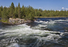 Umba river, Russia Royalty Free Stock Photos