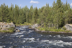 Umba river, Russia Stock Images