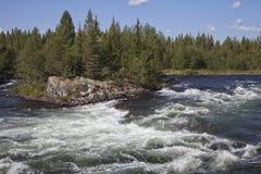 Umba river, Russia Stock Image