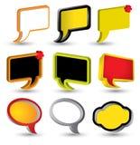 Umbaufahnensprache-Textvektor Lizenzfreie Abbildung